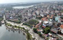 Một góc thành phố Bắc Giang nhìn từ trên cao xuống